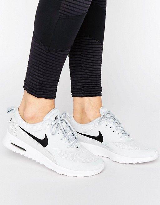 131 Asos Nike Air Max Thea Sneakers In Pale Grey Gray Nike Shoes Nike Air Max Nike Air Max Thea