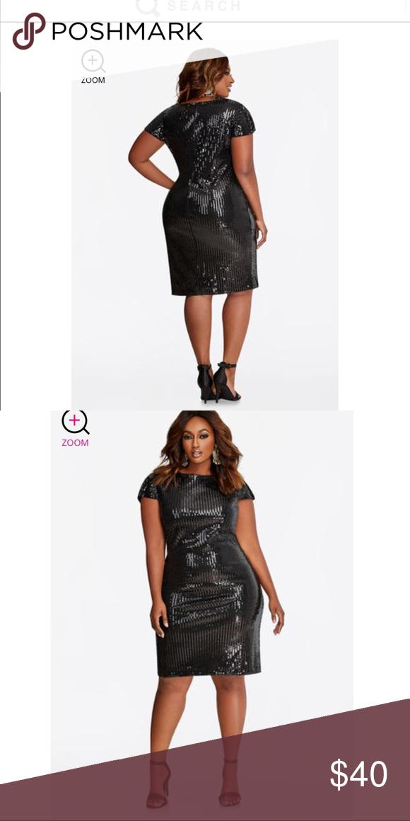 Sequin Black Dress Nwt My Posh Picks Pinterest Black Sequin