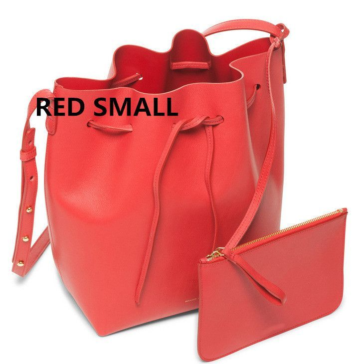 Newest Mansur Gavriel bucket bag women genuine leather hand bag lady real leathe shoulder bag cross bag,free shipping