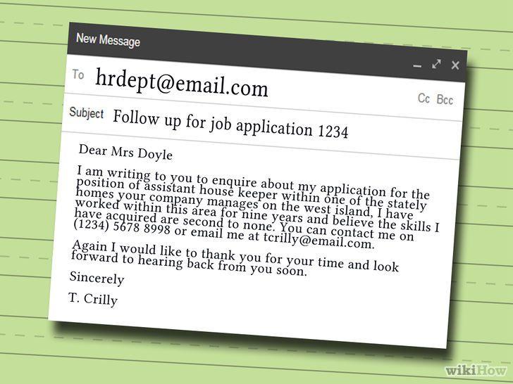 Eine Folge E Mail Auf Eine Bewerbung Schreiben Job Application Job Application Email Sample Resume Skills