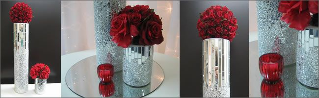 Mirror centerpieces decorations red rose wedding centrepieces mirror centerpieces decorations red rose wedding centrepieces 35 hire twin mosaic vases junglespirit Choice Image