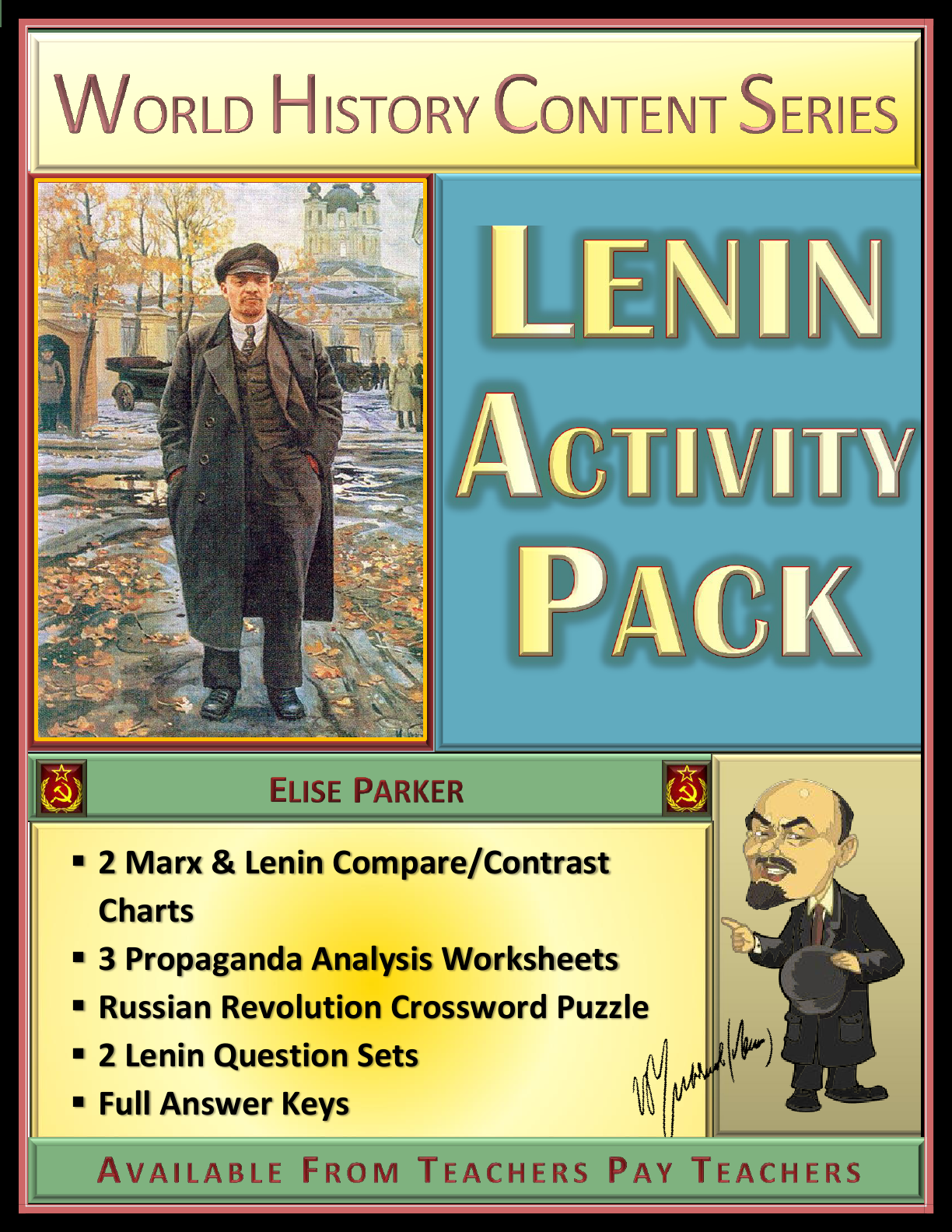Lenin Activity Pack Charts Propaganda Worksheets