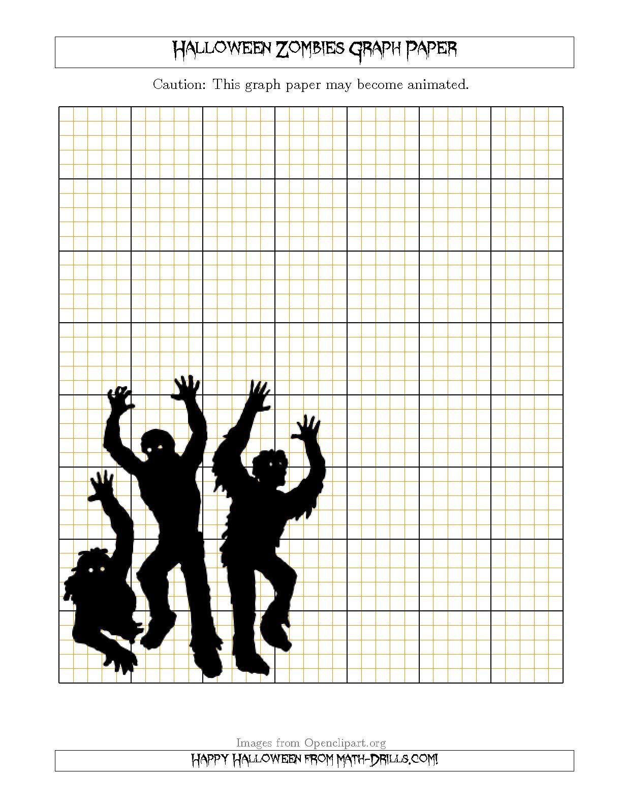 Halloween Zombies 2 5 0 5 Cm Graph Paper Halloween Math Worksheets Halloween Math Activities Halloween Math [ 1584 x 1224 Pixel ]