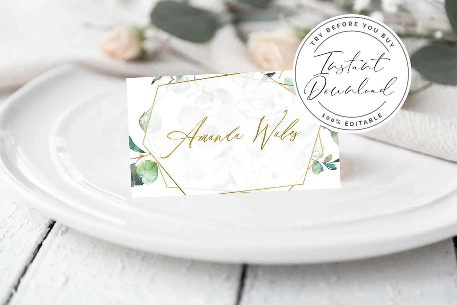 Boho Name Cards Template Printable Wedding Place Cards Table Wedding Name Cards Wedding Table Name Cards Card Table Wedding