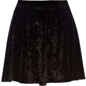 Black velvet skirt young sluts