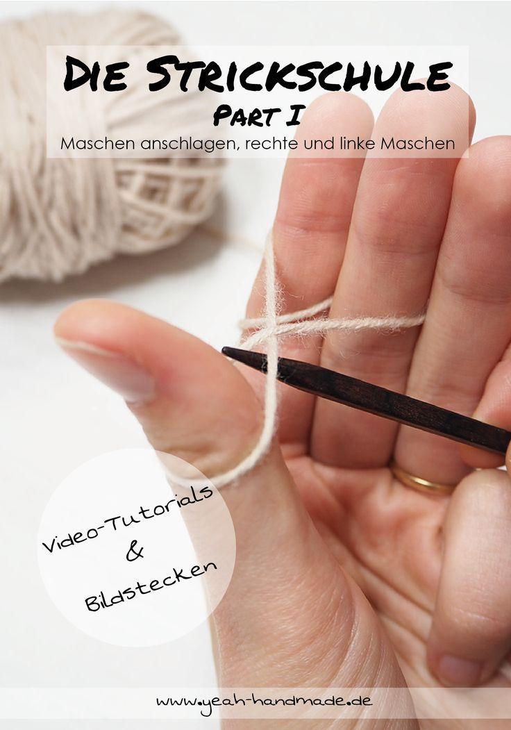 Photo of DIY The Knitting School Teil I – Stricken lernen: Maschen anschlagen, rechte und linke Maschen stricken …