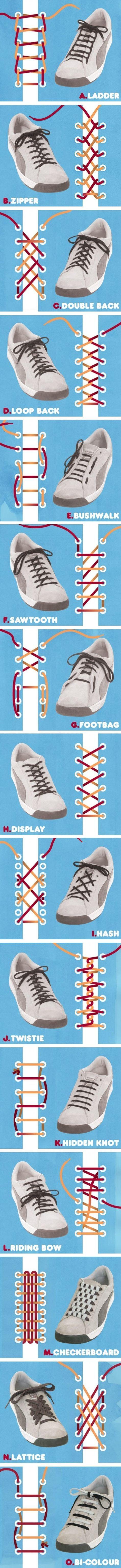 41 Shoe Lace Methods