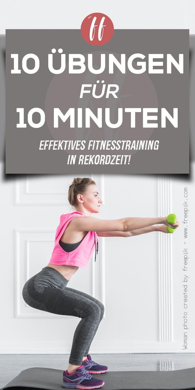 10 Fitnessübungen in 10 Minuten. Ein super effektives Training für einen kurzes Zeitraum. Wer wenig...