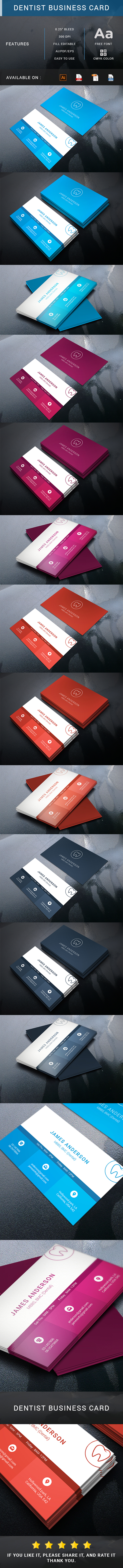 "check out my behance project ""dentist business card"" s"