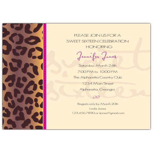 Invitation style P A P E R R U S H Pinterest Sweet 16