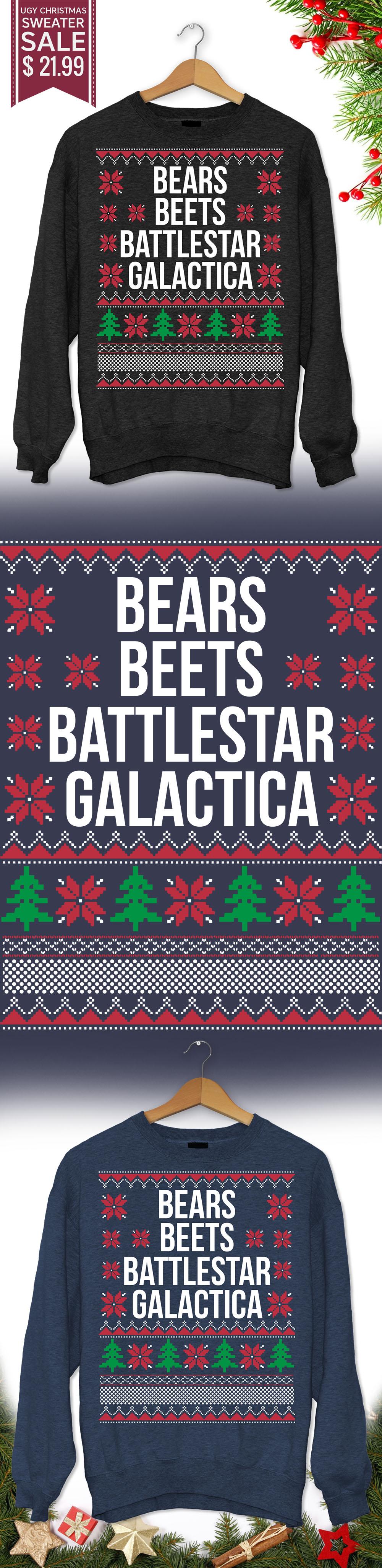 Bears Beets Battlestar Galactica Humorous Christmas Sweaters