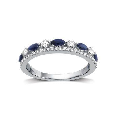 I Said Yes Womens 1/3 CT. T.W. Genuine Blue Sapphire ...