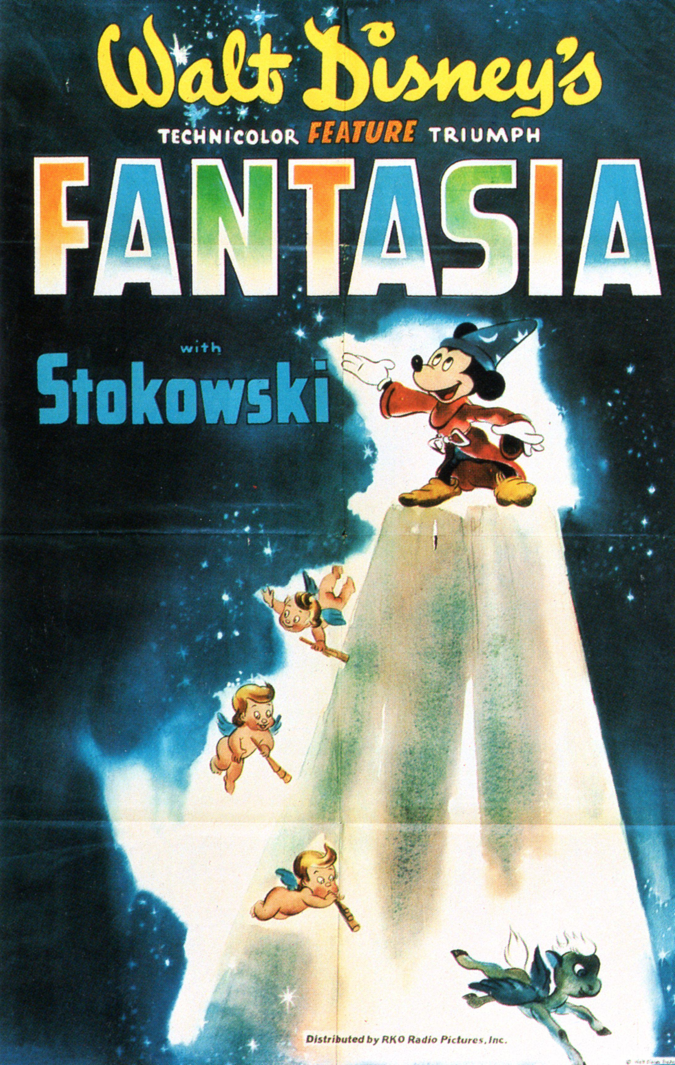 Fantasia Vintage Poster Walt disney animated movies