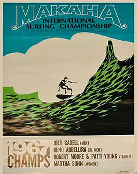 1967 Surfing contest poster. | SURFING A COLLECTION OF OLD
