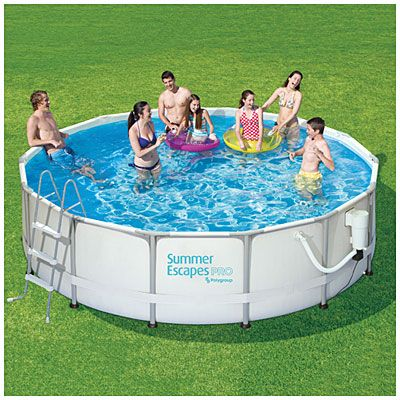 Summer Escapes Pro 15 X 42 Metal Pool Summer Waves Portable Swimming Pools Swimming Pool Filters