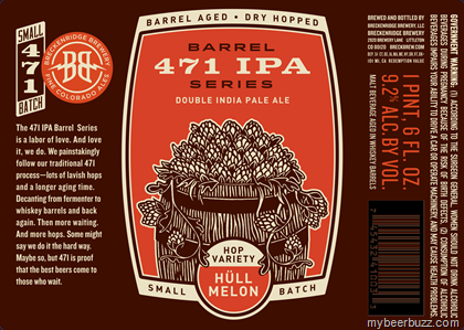mybeerbuzz.com - Bringing Good Beers & Good People Together...: Breckenridge - Barrel 471 IPA Series DIPA