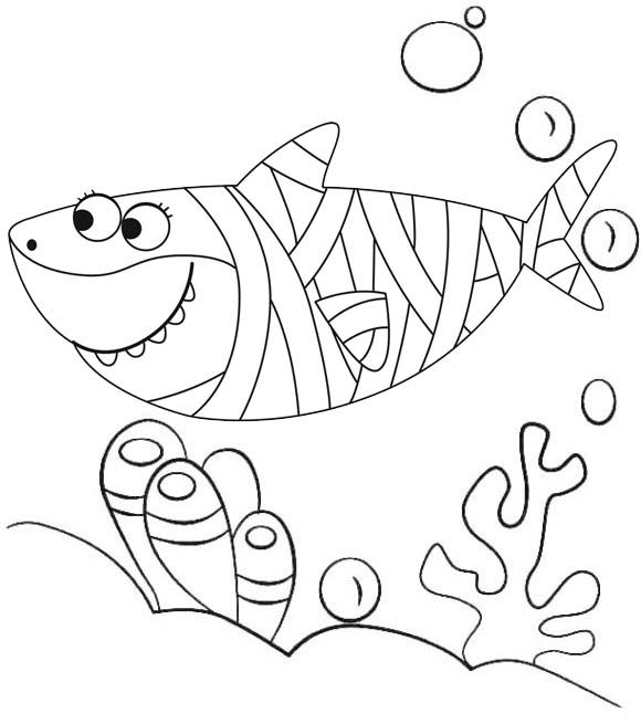12 Best Baby Shark Pinkfong Coloring Sheets For Children Coloring Pages Shark Coloring Pages Halloween Coloring Pages Shark Halloween