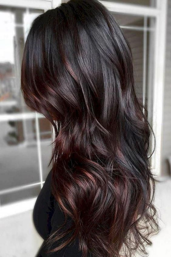Love this color and cut...hummm. when i see all these fall hair color for brunettes balayage brown caramel it always makes me jealous i wish i could do something like that I absolutely love this fall hair color for brunettes balayage brown caramel so pretty! Perfect!!!!! #hairbrown #fallhaircolorforbrunettes