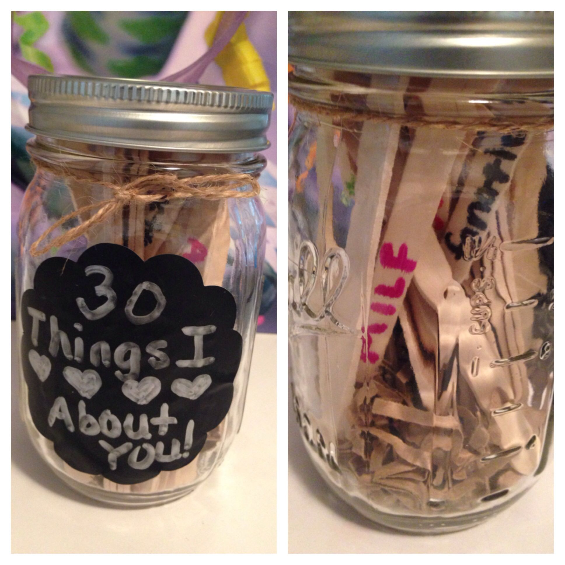 Easy Gift Idea 30 Things I Love About You This Was For A 30th