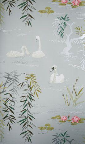 Swan Lake wallpaper by Nina Campbell at Osbourne & Little