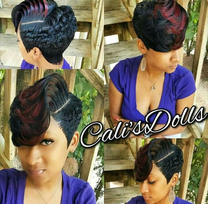 Full Quick Weave Partial Weave Short Hair Pinte