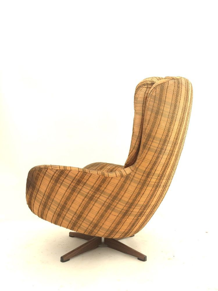 Vintage Mid Century SWEDFURN Swivel Egg Chair Armchair Danish Knoll Era 1of2