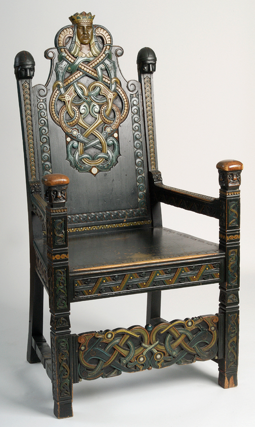 Chair by Lars Kinsarvik, 1900 - 1905, International Dragon or Viking Style - Chair By Lars Kinsarvik, 1900 - 1905, International Dragon Or