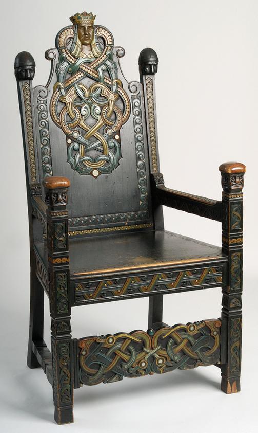 Chair by Lars Kinsarvik 1900 - 1905 International Dragon or Viking Style & Chair by Lars Kinsarvik 1900 - 1905 International Dragon or Viking ...