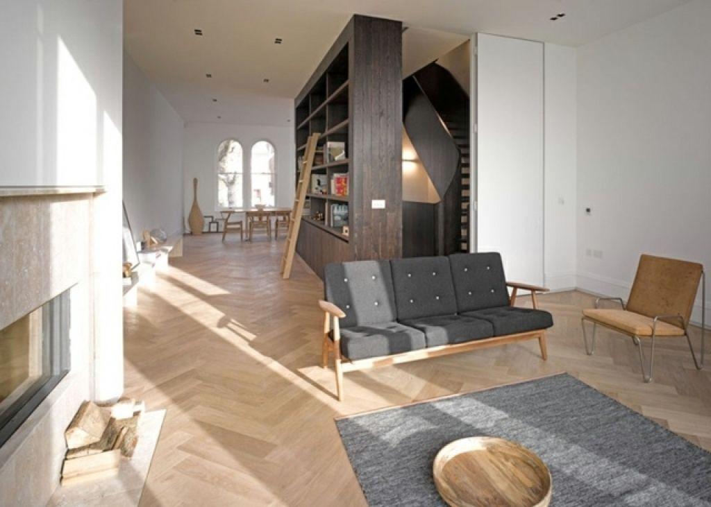 Wohnzimmer Modernisieren Modernes Haus London Wohnzimmer Kamin Teppich  Dreisitzer Sofa Wohnzimmer Modernisieren