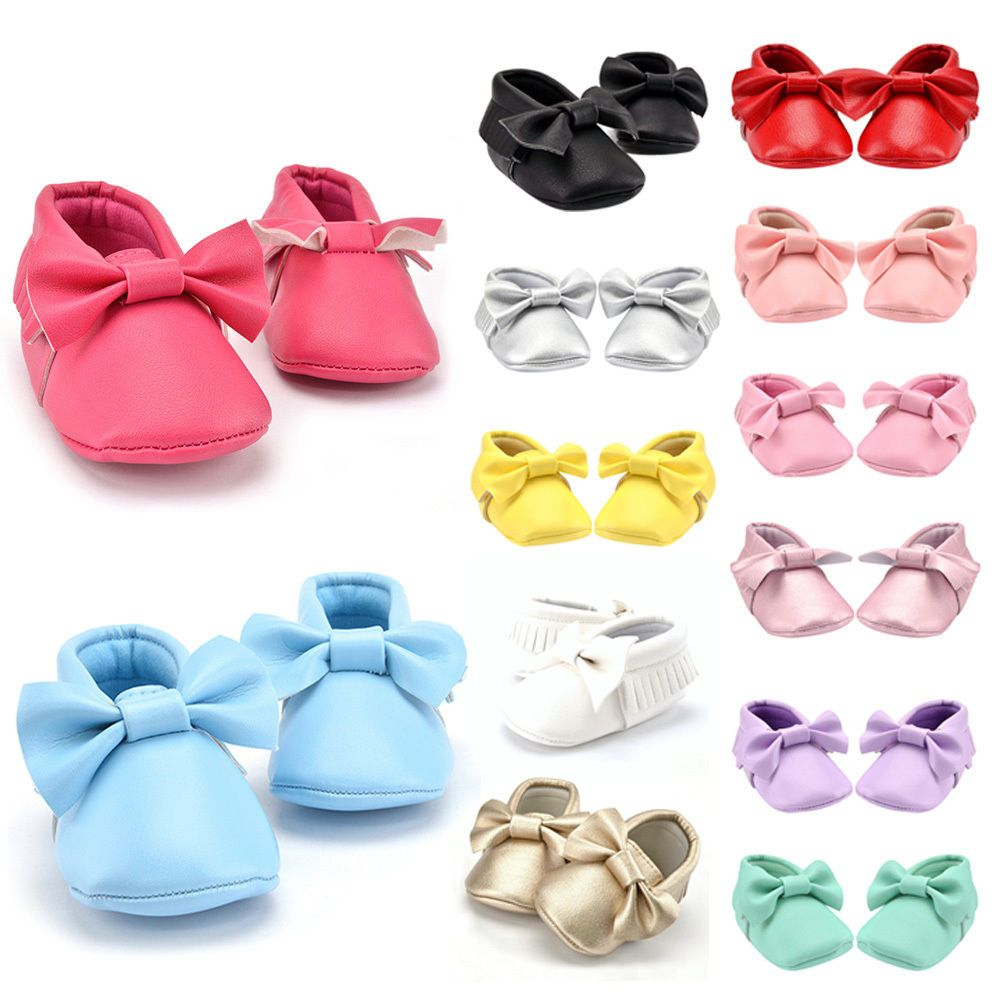 Cool 0-18M Baby Tassel Leather Soft Sole Shoes Infant Boy Girl Toddler Crib Moccasin 2017-2018