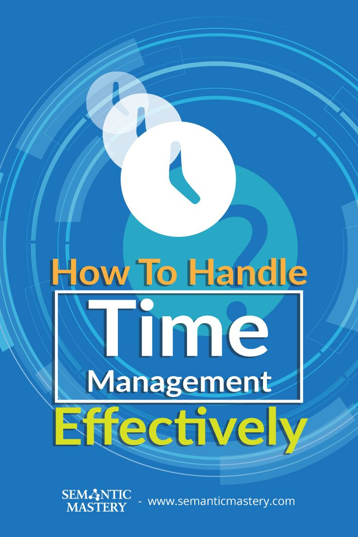 how to manage time effectively pdf