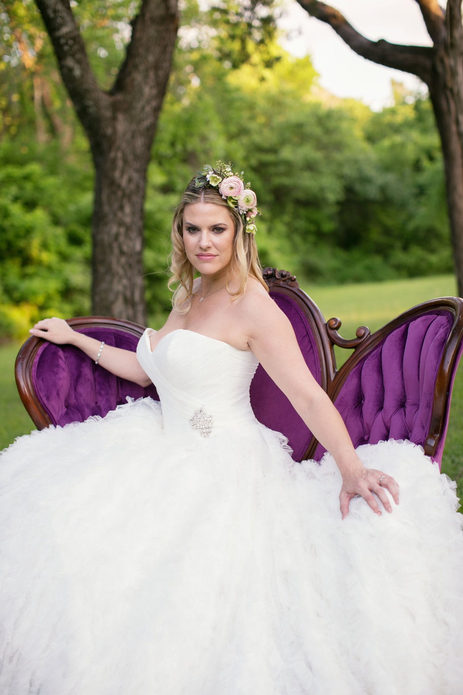 Where can i rent a wedding dress  Grapevine Texas Bridals by Julia Sharapova Purple Couch by Rent My