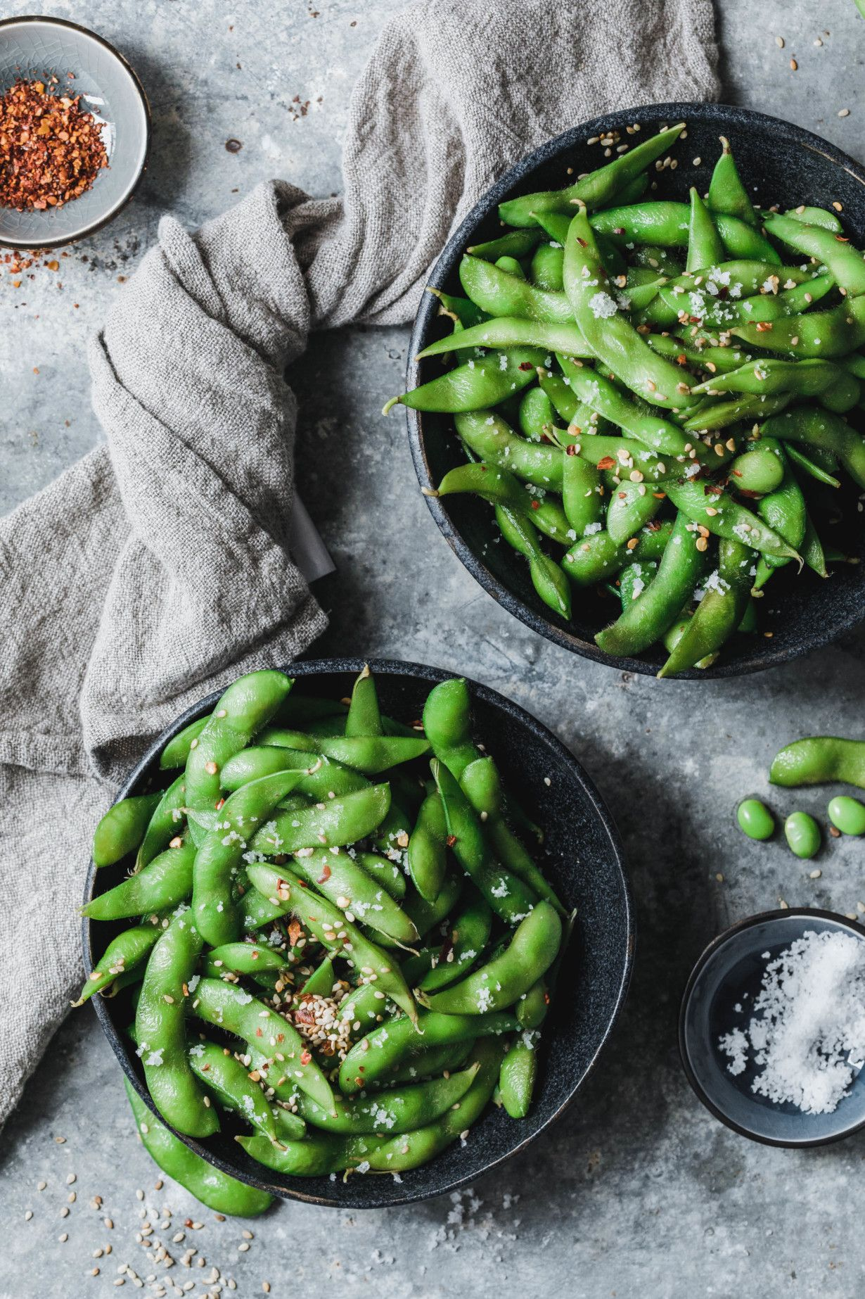 Edamame mit Sesam & Chili · Eat this! Foodblog • Vegane Rezepte • Stories – Carey&CleanEatingS