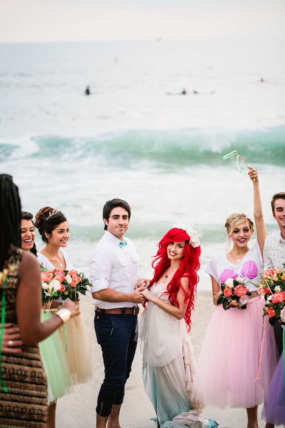 Hipster Ariel Marries Eric in This Fantasy Beach Wedding