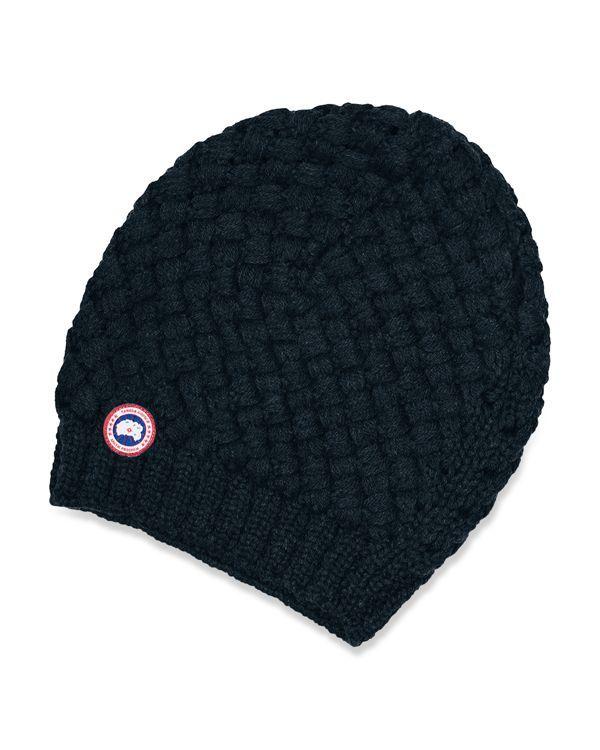 d11fd86a Canada Goose Basket Weave Slouchy Hat   Bonet, Cap, Hat, Poncho ...