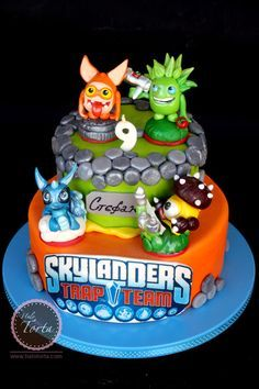 Halo Torta Skylanders Trap Team birthday cake