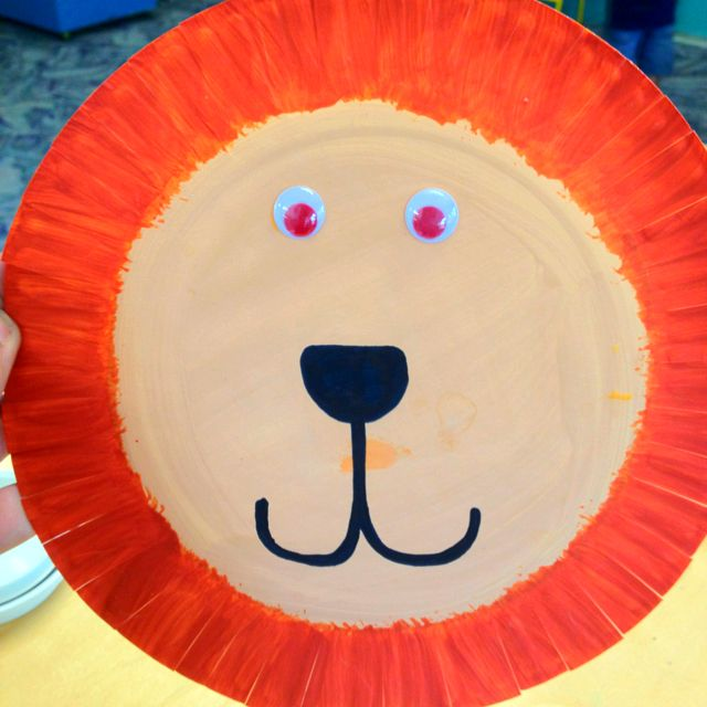 Quot Rumble In The Jungle Quot Lion Out Of Paper Plate Crafts