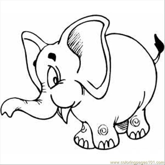Elephant Coloring Pages To Print Coloring Pages Pink Elephant