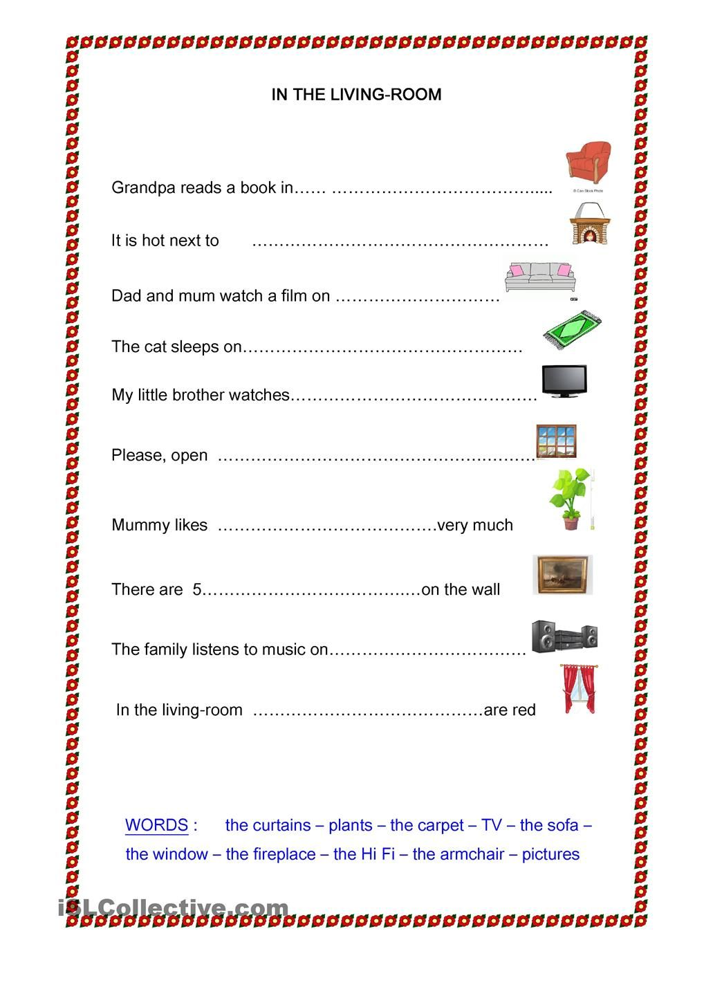 IN THE LIVING-ROOM | some lesson in English | Pinterest | Englisch