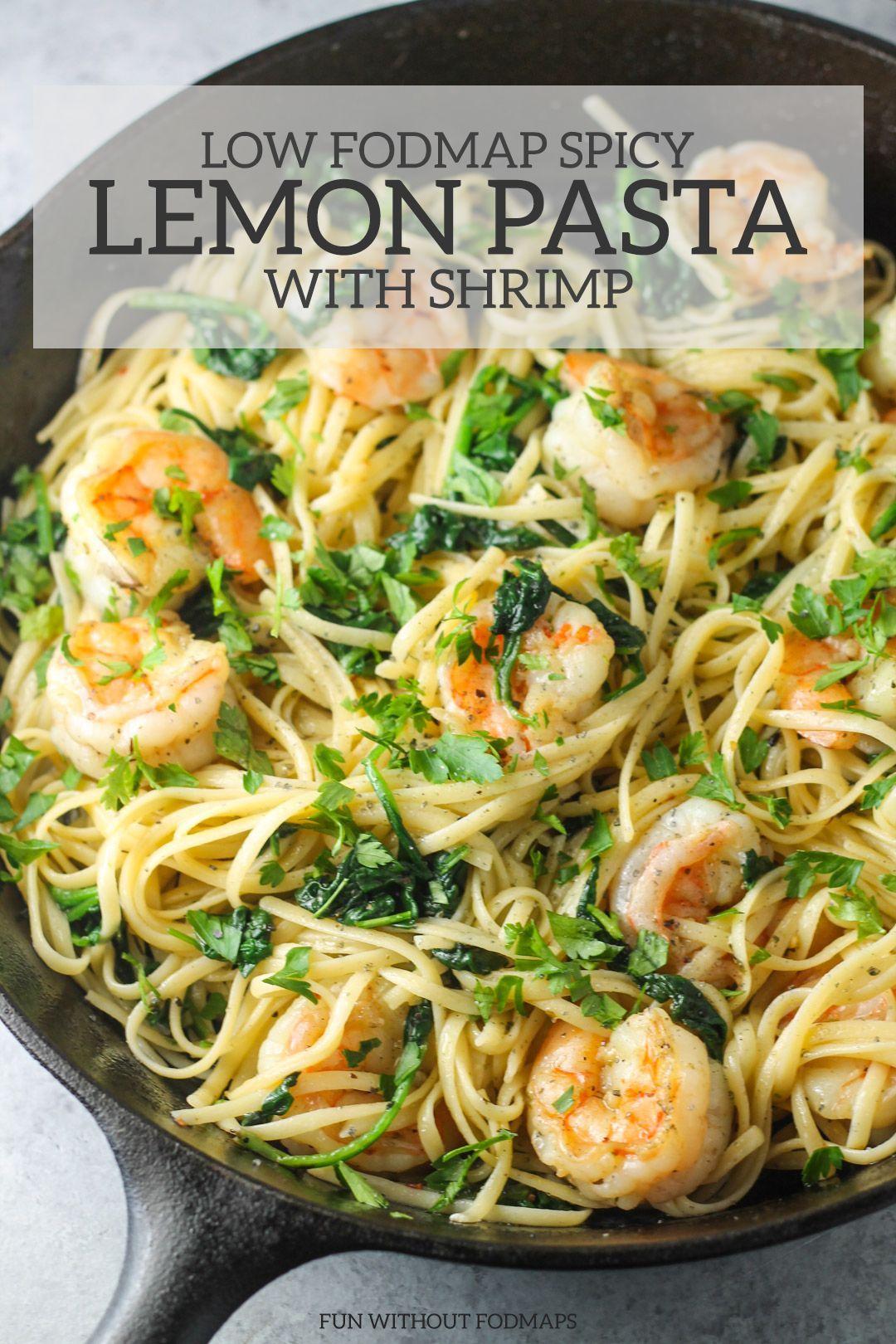Low fodmap spicy lemon pasta with shrimp recipe fodmap