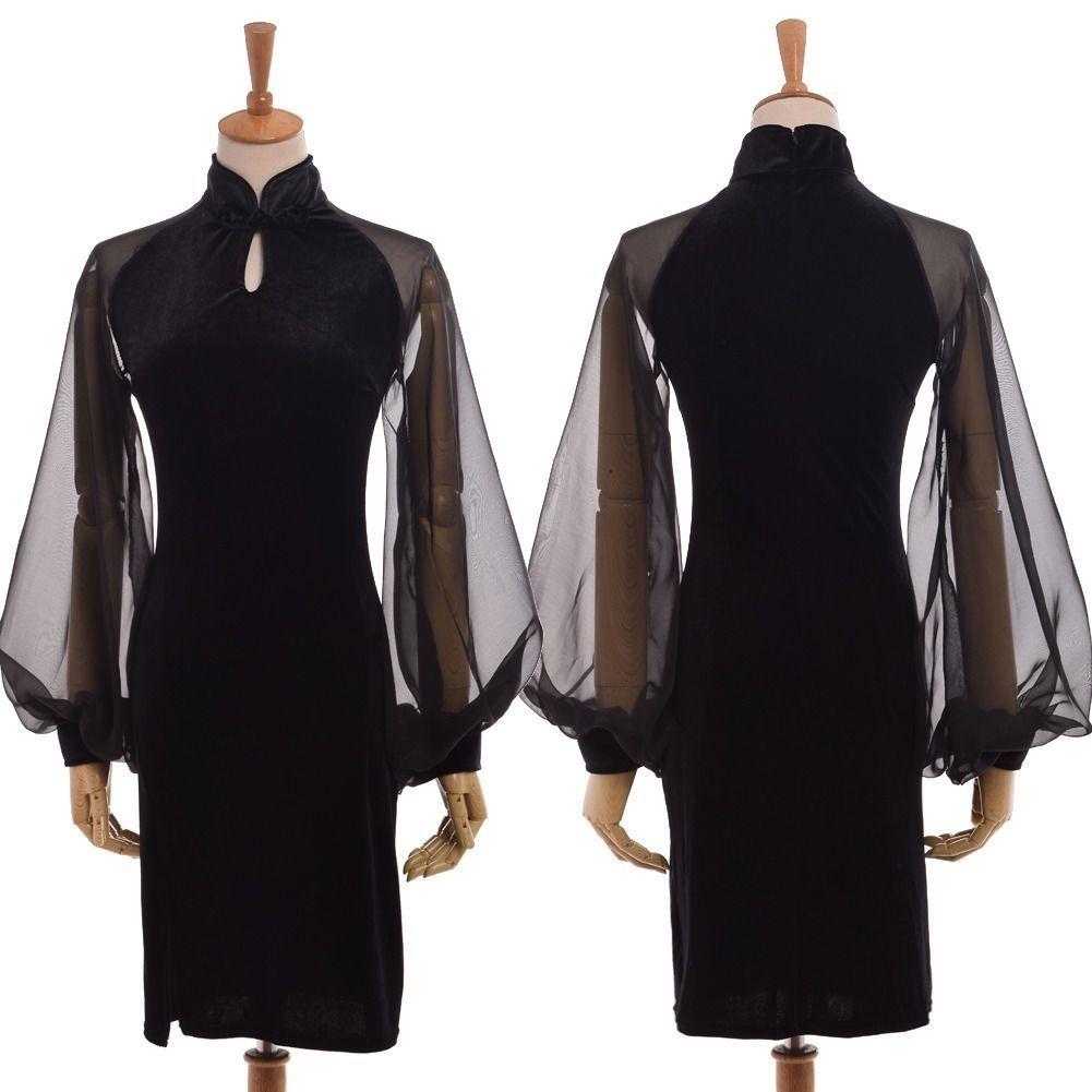 Black Red Hooded #Velvet Cloak Cape One Size Man Woman Fancy Dress Outfit