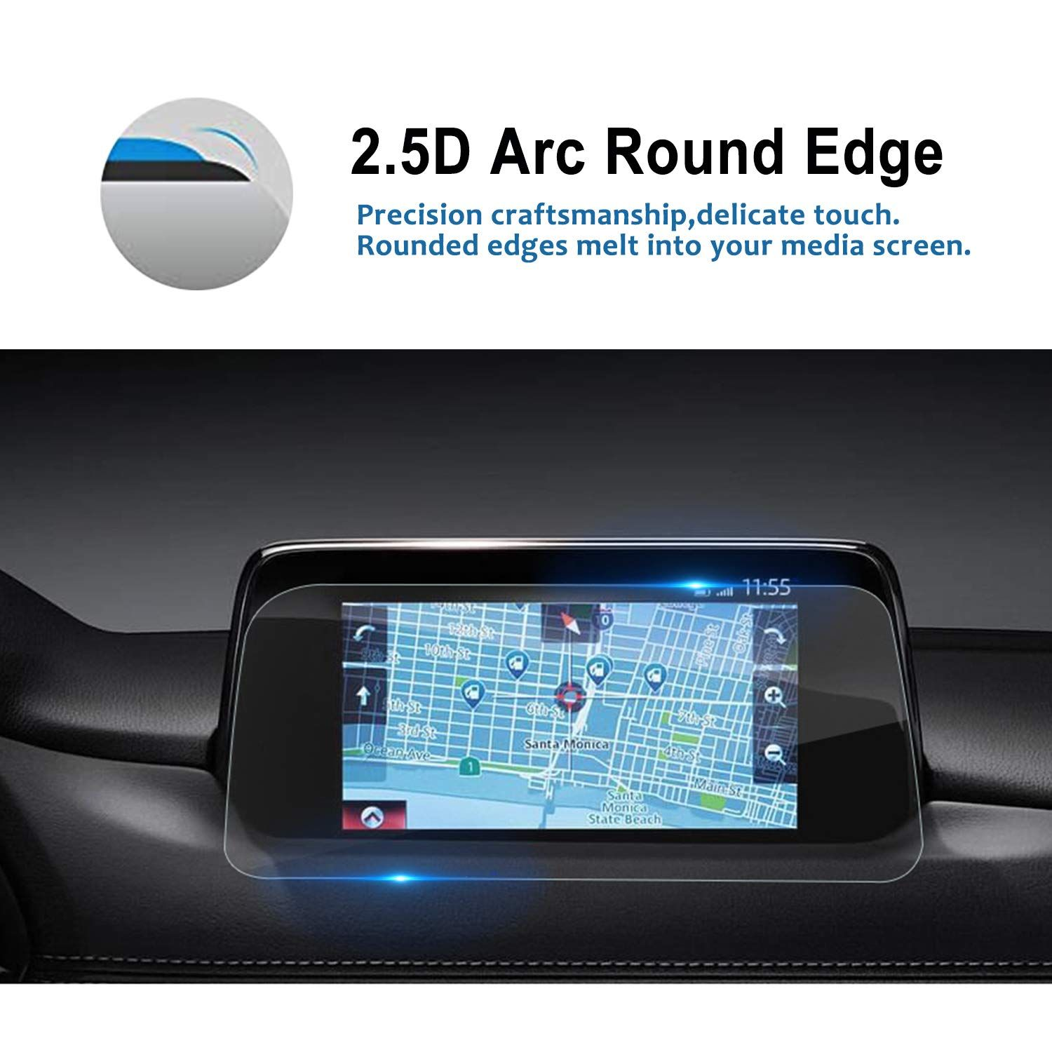 LFOTPP 2018 Toyota Camry XLE XSE 8-Inch Control Screen Protectors /&Gear Position Panel Film 4PCS PET Plastic Center Touch HD Crystal Clear in-Dash Navigation Protective Film