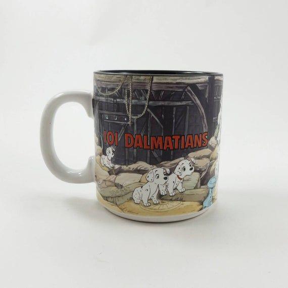 Vintage 101 Dalmatians Mug, Puppy Dog Mug, Ceramic Mug, Coffee Mug, Disney Mug, Disney Collectibles,