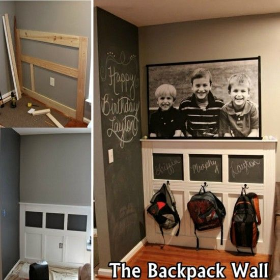 Large Foyer Quotes : Best diy entryway ideas for your home backpack wall