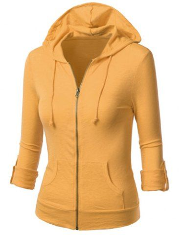 e5c5a7f2953f Fashionable Zippered Long Sleeves Hoodie For Women | WOMEN'S FALL ...