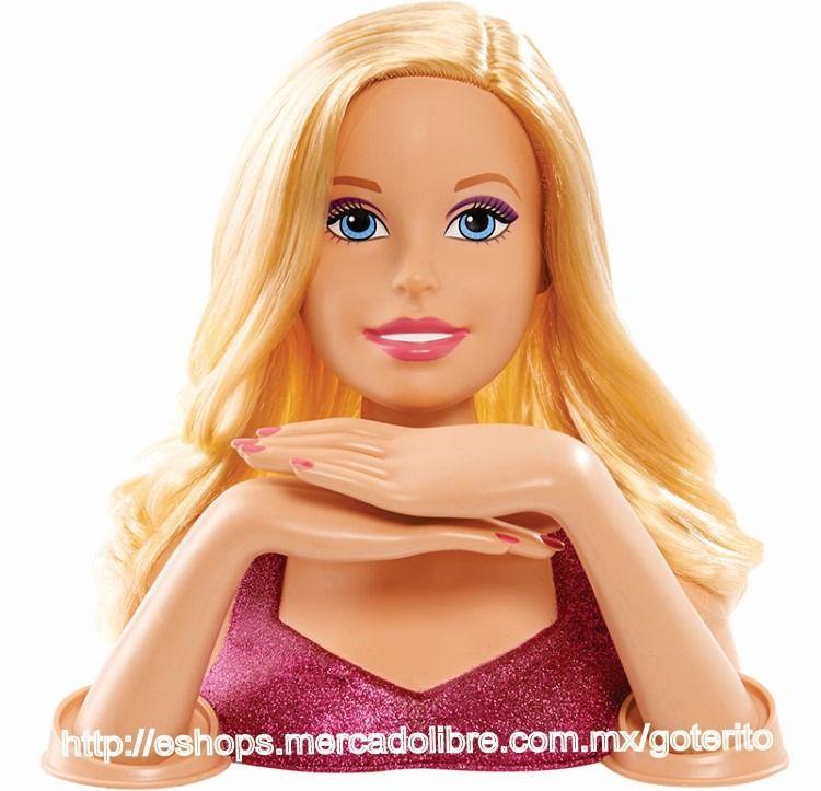resultado de imagen para cabezas barbie para maquillar | juguetes