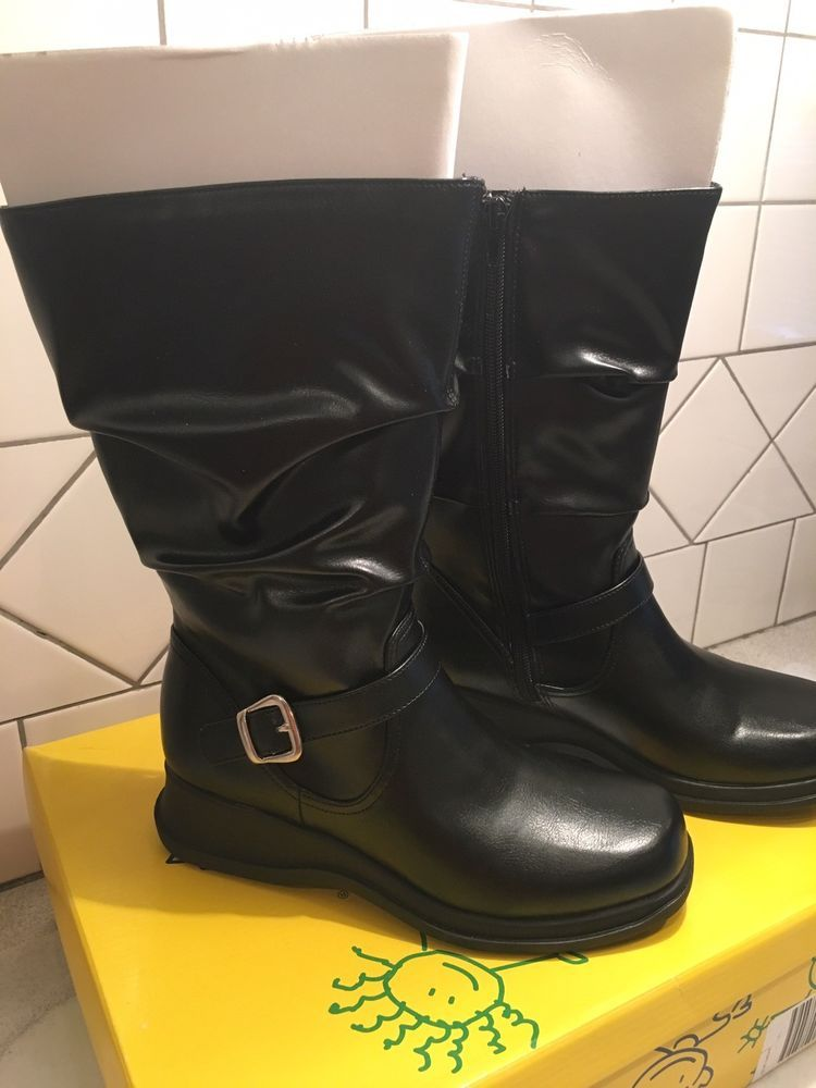 Stretch Boot Black Kids Size 4 1/2 By