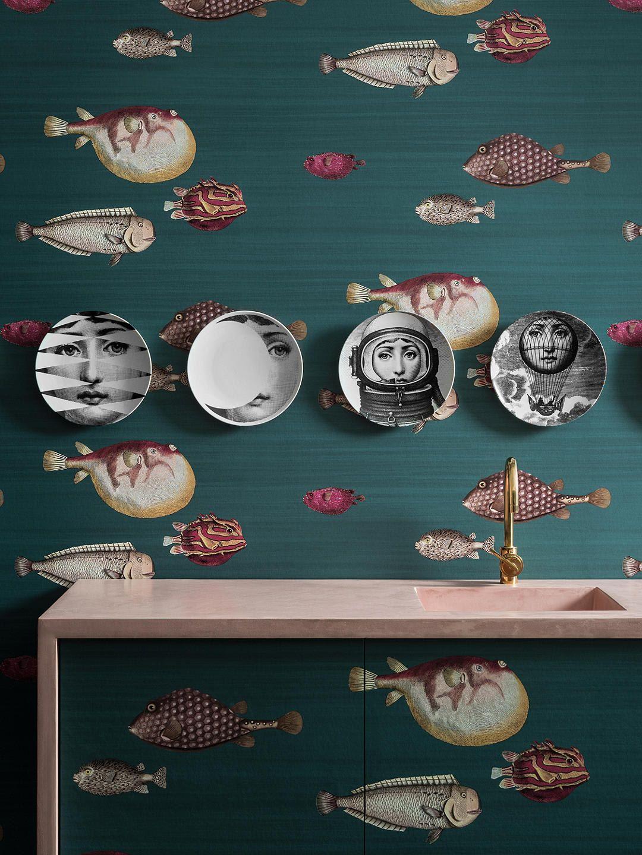 Powder Room Wallpaper Ideas Powder Room Wallpaper Fornasetti