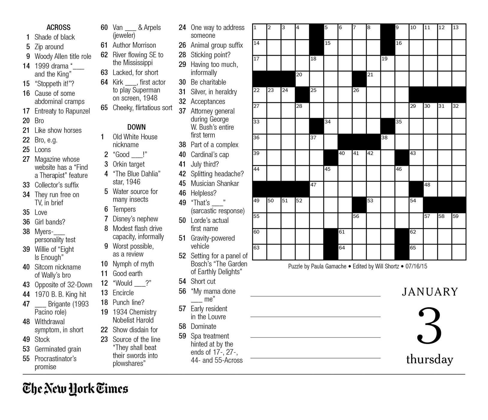 image about Ny Times Sunday Crossword Printable named The Clean York Situations Crossword Puzzles 2019 Working day-in the direction of-Working day