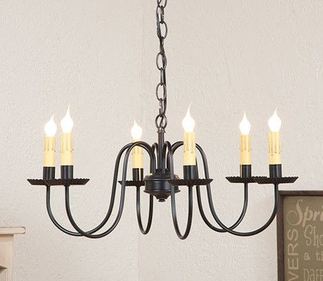 PRIMITIVE WROUGHT IRON CHANDELIER Handcrafted Six  6  Arm Candelabra  Colonial Ceiling LightPRIMITIVE WROUGHT IRON CHANDELIER Handcrafted Six  6  Arm  . Primitive Colonial Light Fixtures. Home Design Ideas